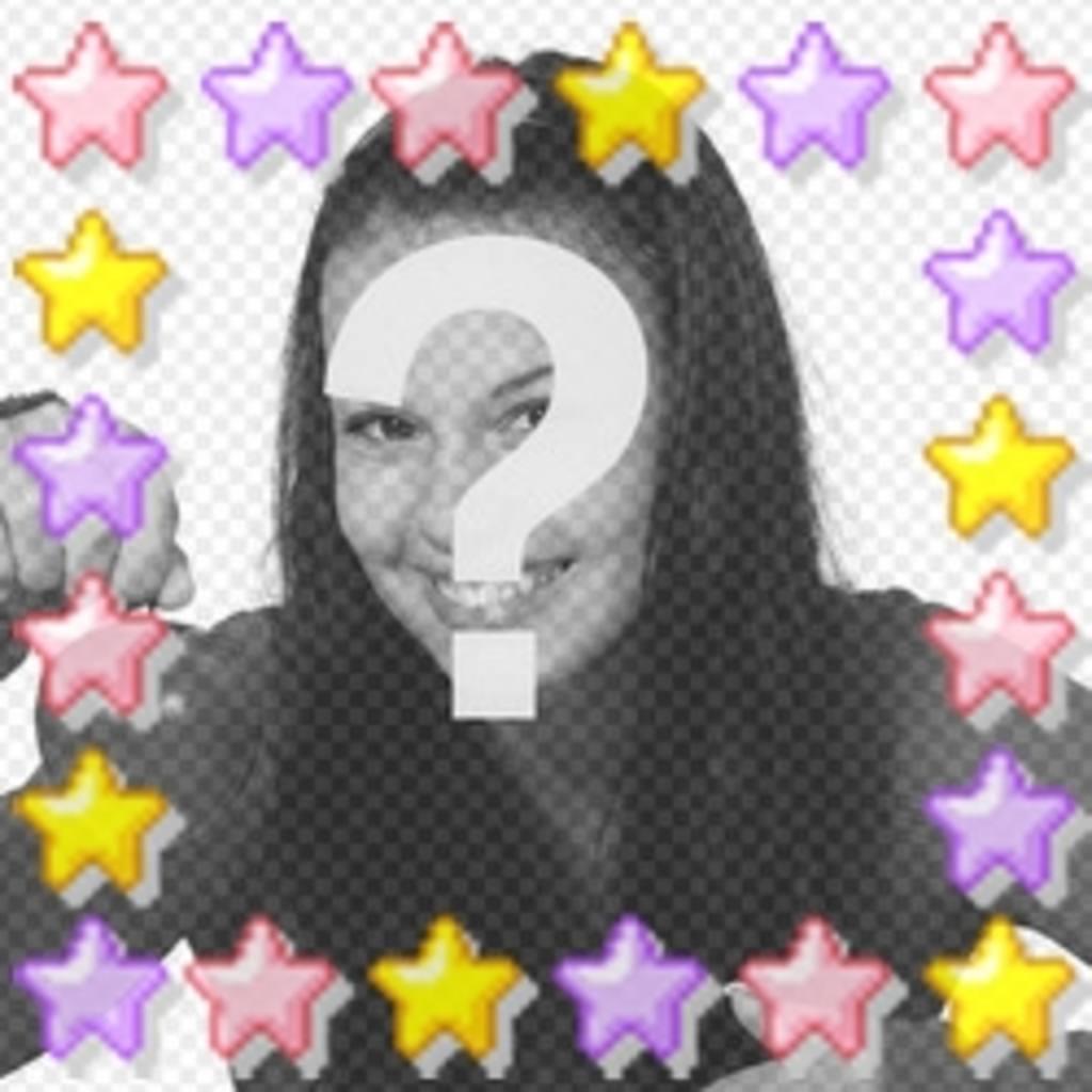 Couleur étoiles animation personnalisée avec votre photo, grand avatar