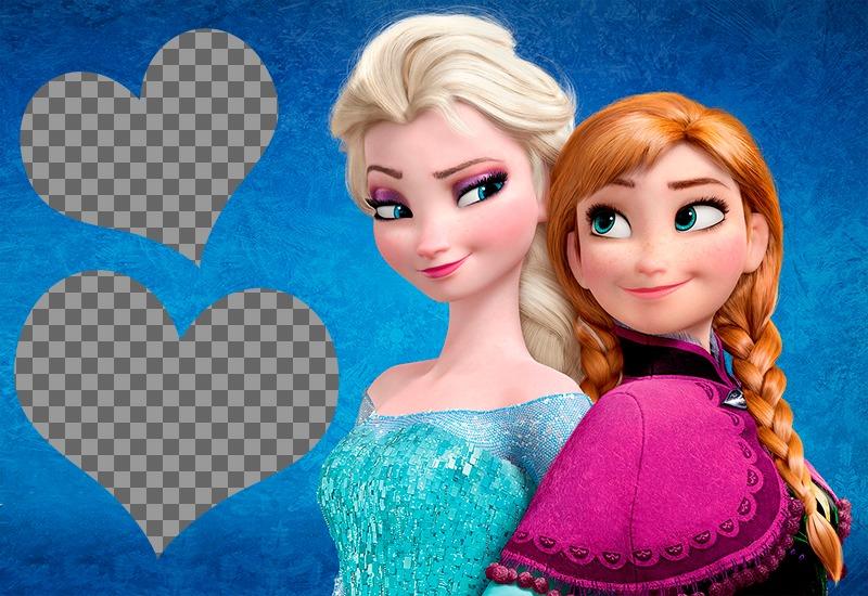 Photomontage pour deux photos Frozen Frozen