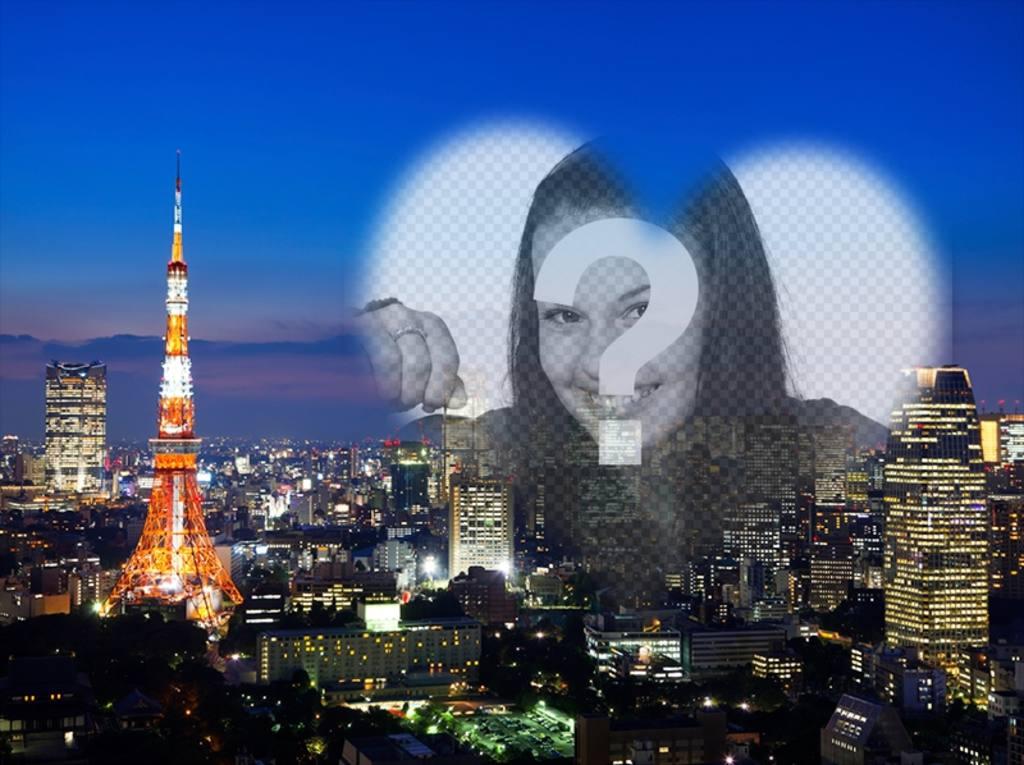 Carte postale avec une image de Tokyo - Photoeffets