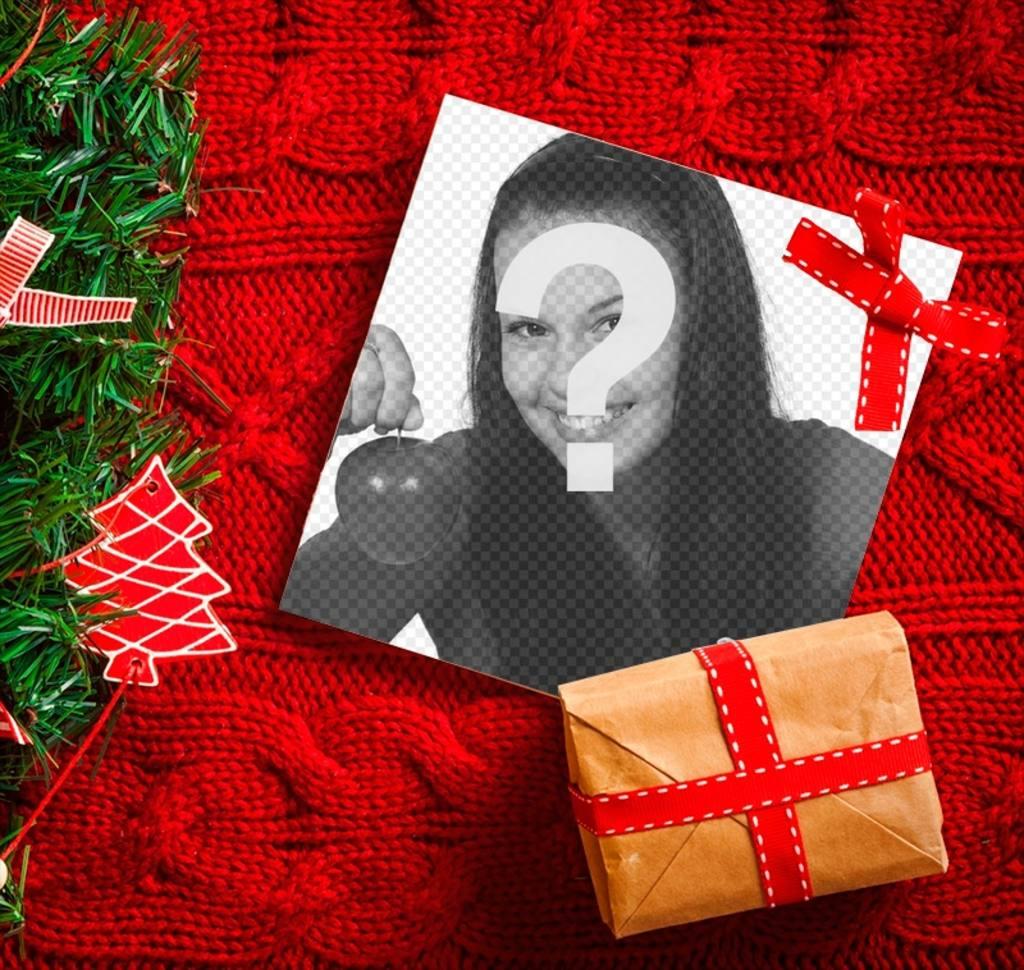 Collage de Noël avec un arbre de