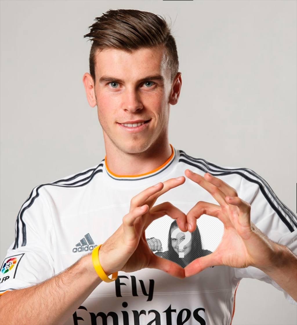 Photomontage de mettre votre photo dans le cœur de Gareth Bale