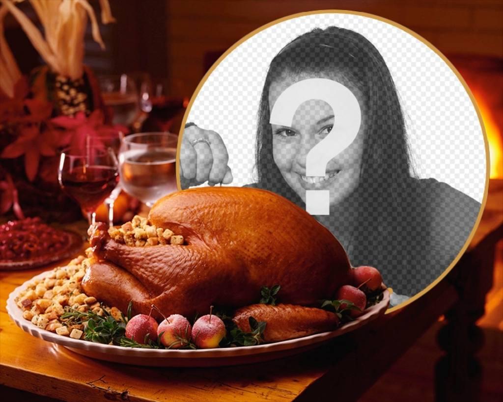 Collage de mettre votre photo à côté dun banquet