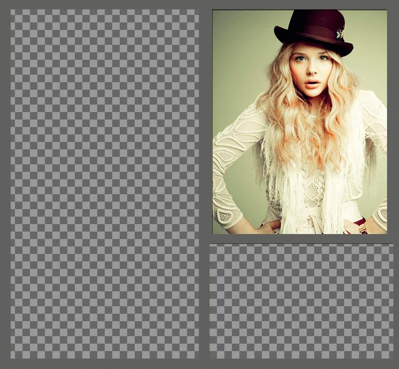 Collage avec lactrice Chloë Moretz et deux photos de vous