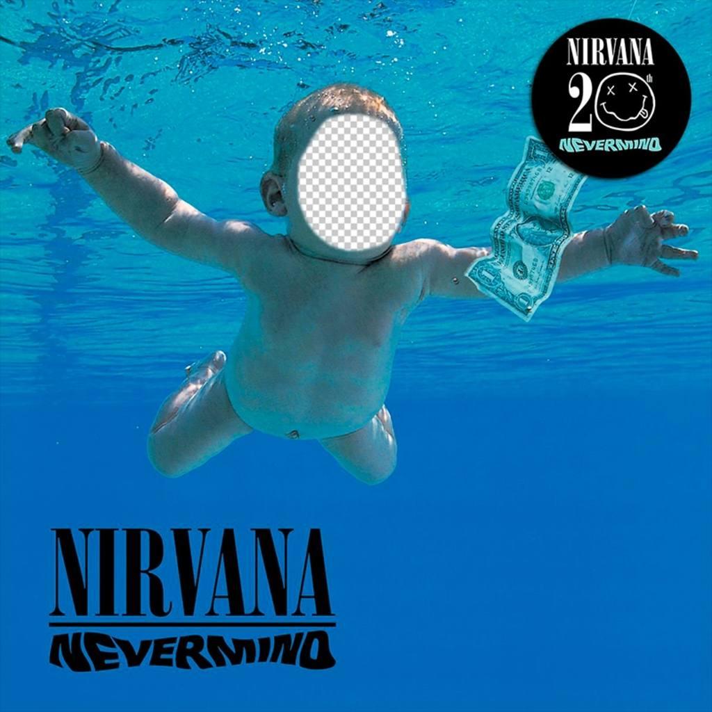 Photomontage avec la pochette du CD de Nirvana pour modifier
