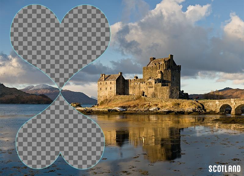 Carte postale de 2 photos dEcosse