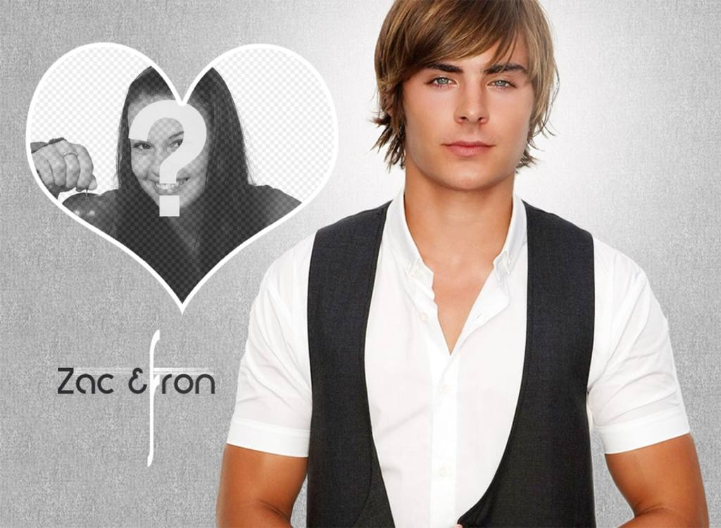 photomontage dans un c ur avec lacteur zac efron photoeffets. Black Bedroom Furniture Sets. Home Design Ideas
