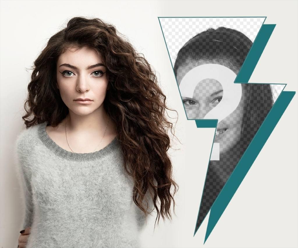 Collage par le chanteur Lorde OFT vos photos