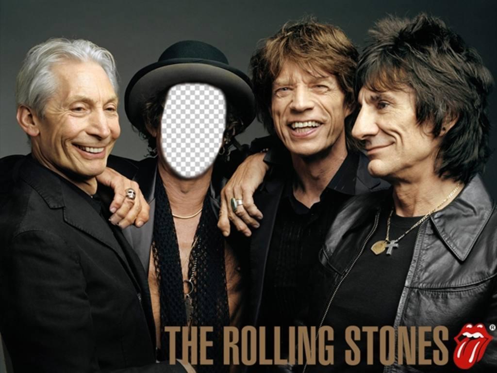 Photomontage des Rolling Stones à personnifier avec votre photo