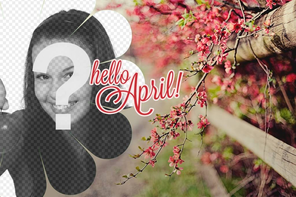 Fond décran de printemps avec le texte Bonjour Avril!