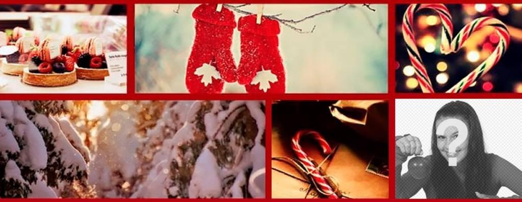 Facebook Noël photo de couverture avec votre propre image