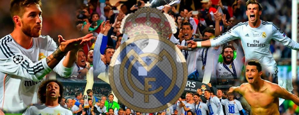 Facebook Accueil Real Madrid à faire avec votre image sur le bouclier