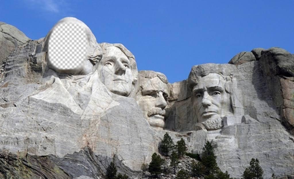 Photomontages libre de mettre votre visage sur la célèbre œuvre du mont Rushmoreen