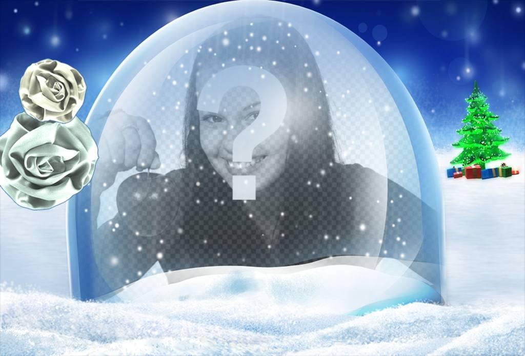 Photomontage de mettre votre photo dans cette boule de cristal