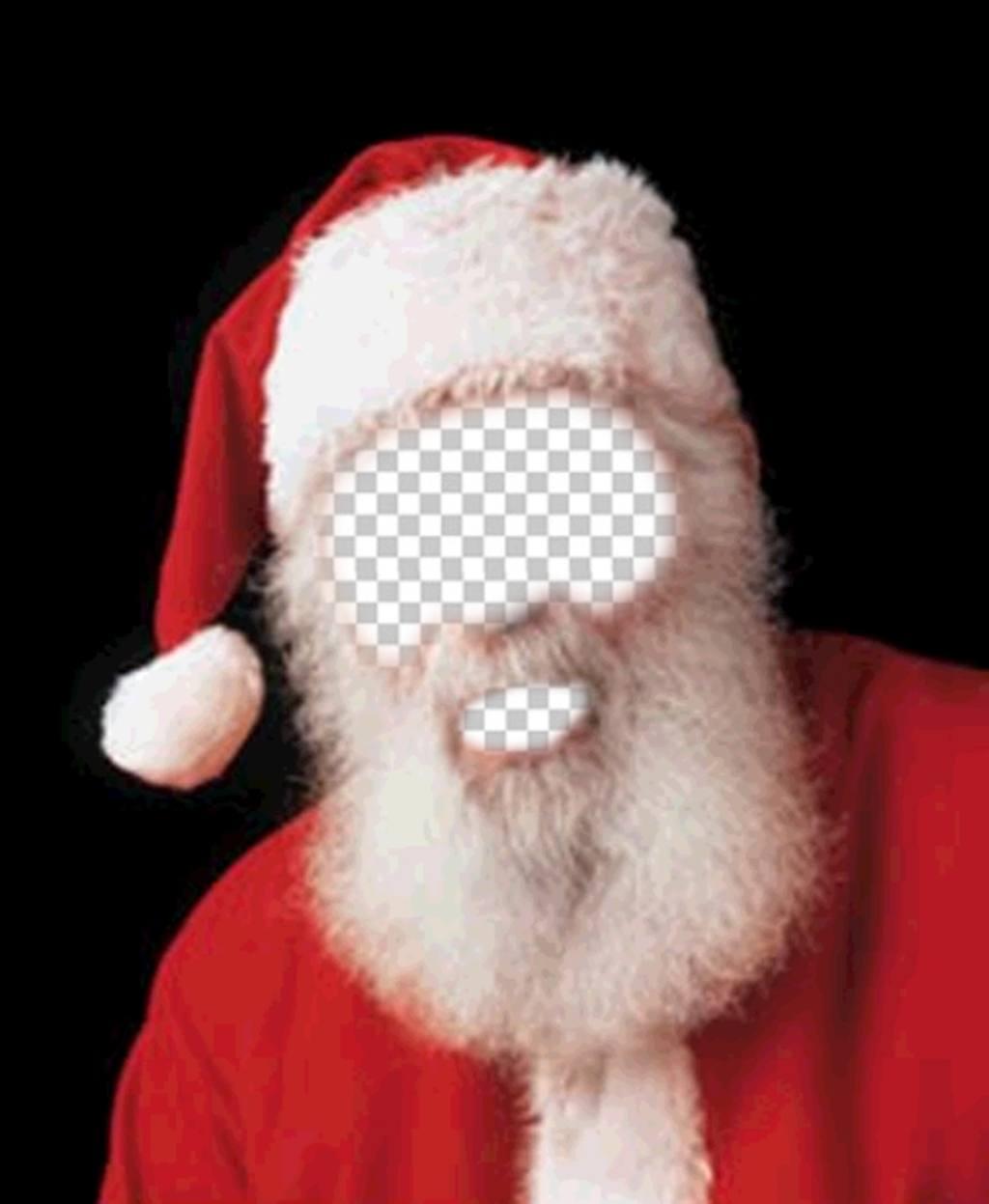 Montage photo du Père Noël costume pour Noël