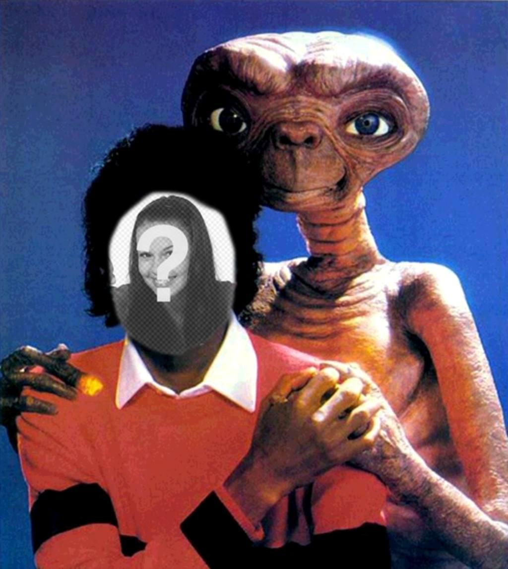 Michael Jackson avec ET, Michael Jackson montage de votre photo