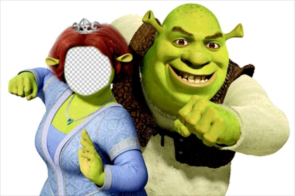 Soyez Fiona avec son mari Shrek édition de ce montage en ligne