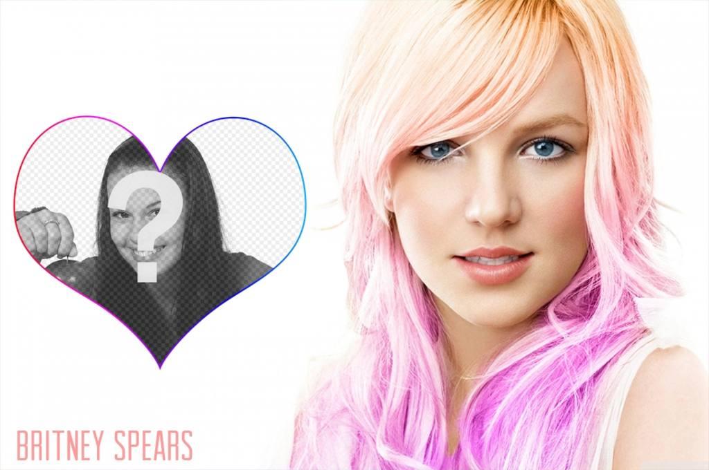 Mettez votre photo à côté de la célèbre chanteuse Britney Spears