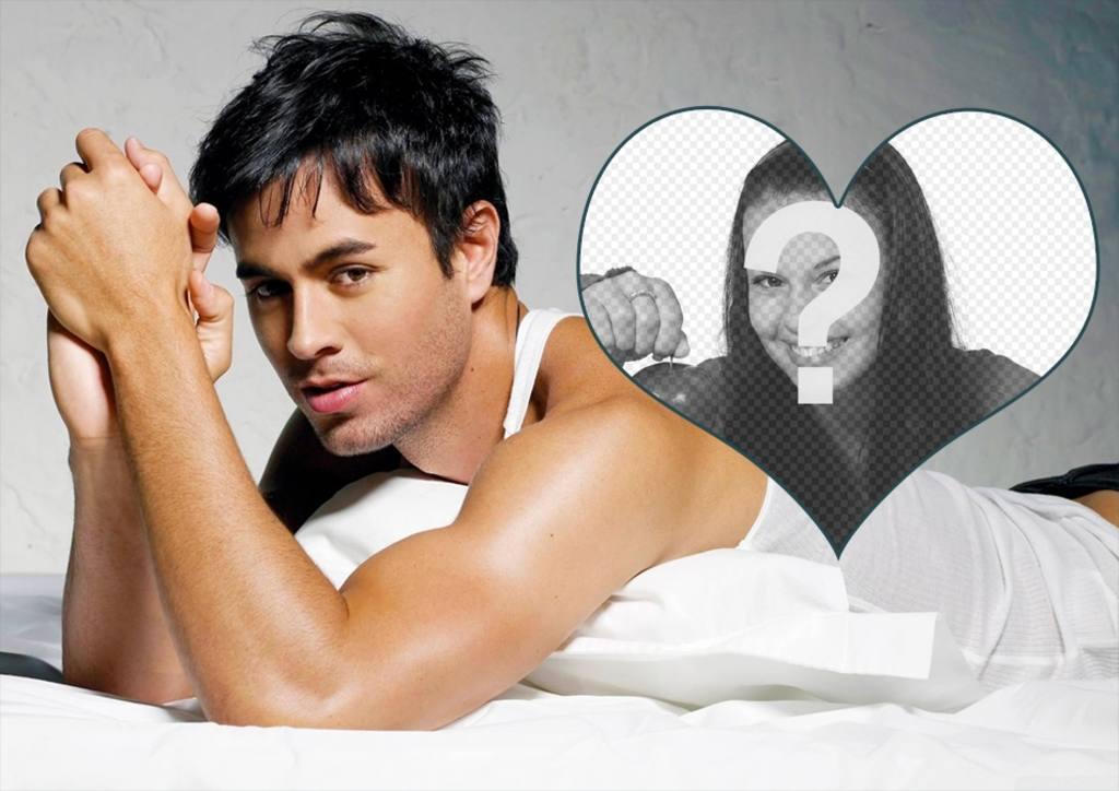 Photomontage avec le chanteur Enrique Iglesias