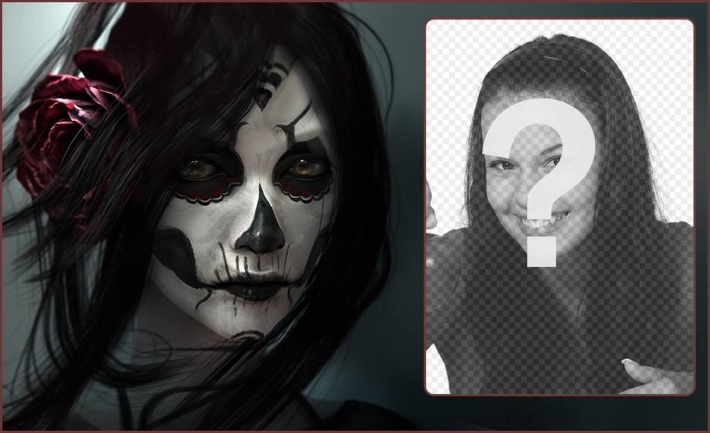 Photomontage de mettre votre photo à côté dune jeune fille avec le maquillage