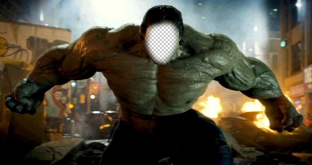 Effet en ligne pour être Hulk dans une scène de film
