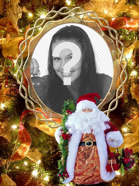 Mettez votre photo sur un arbre de Noël avec le Père Noël