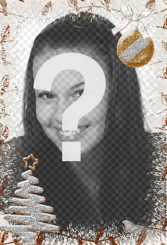 Décoration de Noël Vertical pour des photos avec un arbre