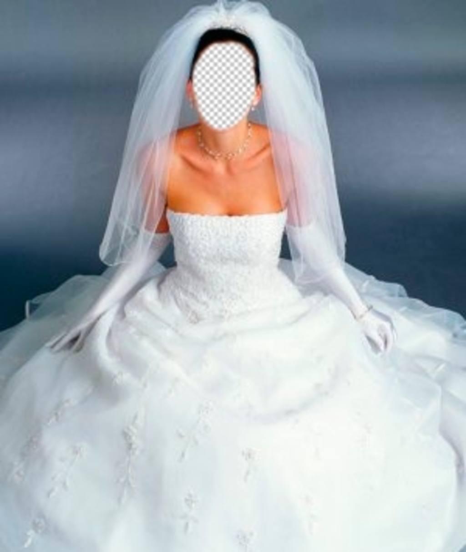 Habille la mariée en robe blanche avec ce montage photo