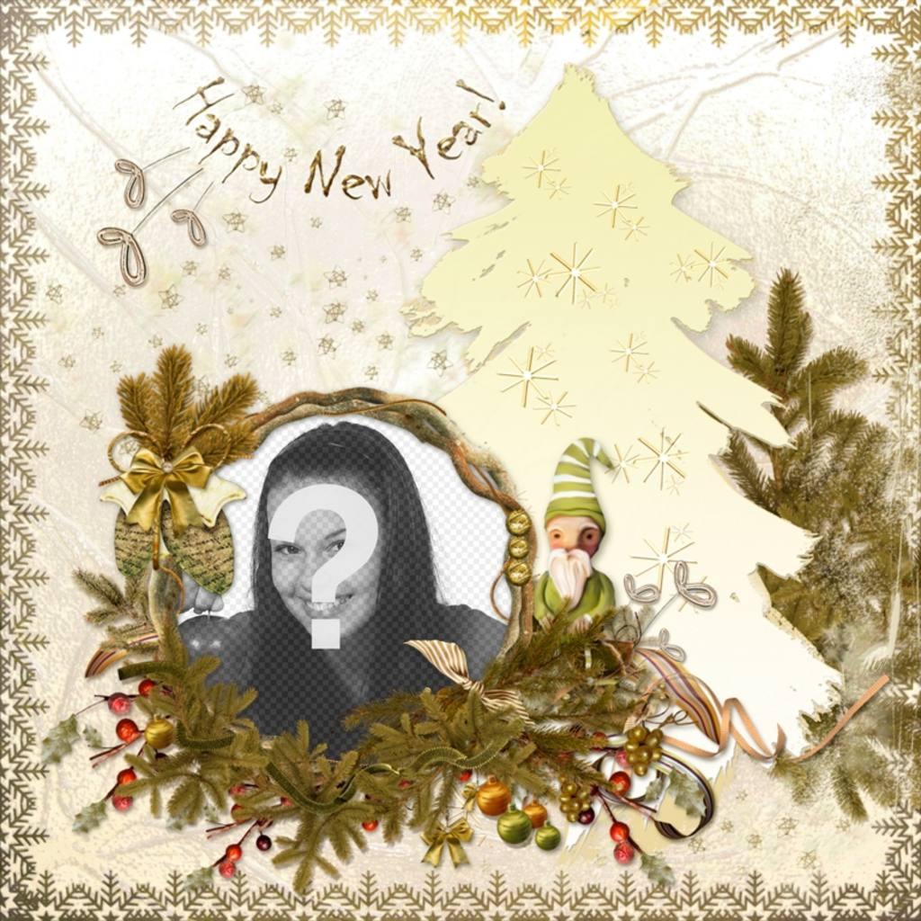 Carte classique pour éditer et le texte Happy New Year
