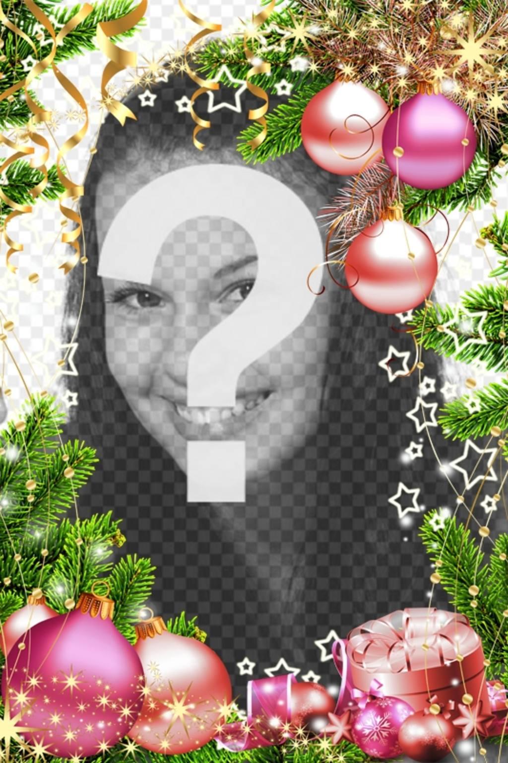 Cadre vertical pour des photos pour personnaliser la décoration de Noël