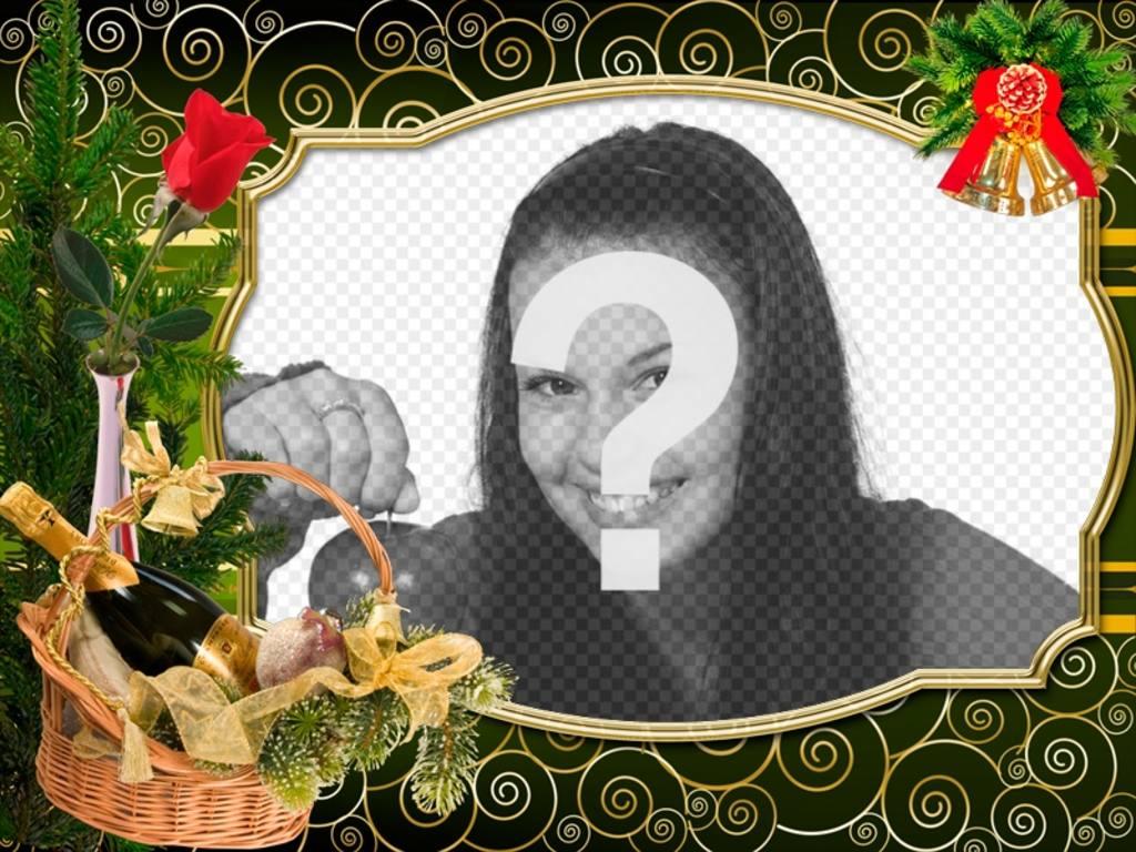 Carte de Noël à personnaliser avec votre photo