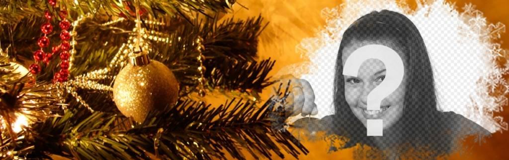 Facebook photo de couverture avec des décorations de Noël