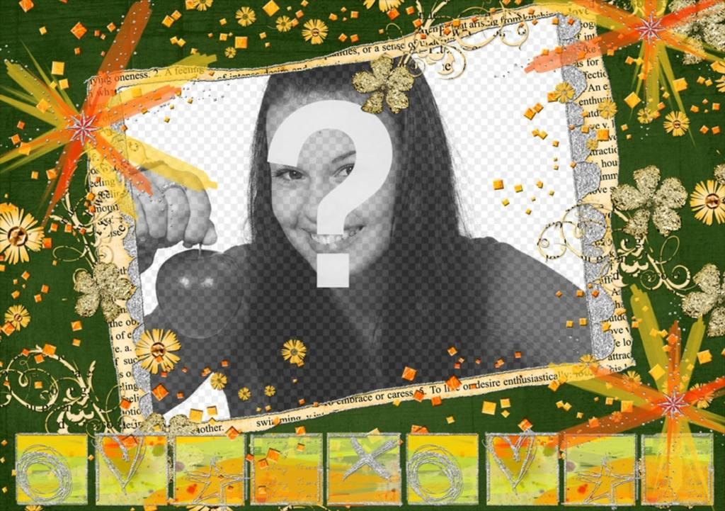 Cadre hippie avec des couleurs et des fleurs pour votre photo