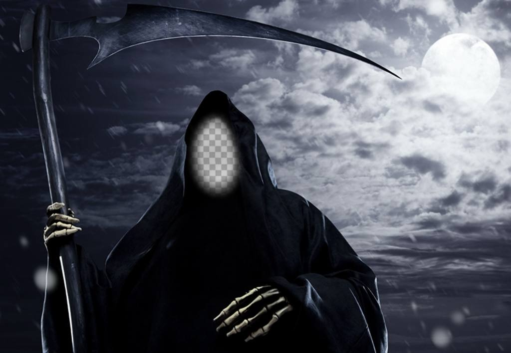 Photomontage de mettre votre visage dans le moissonneur dark