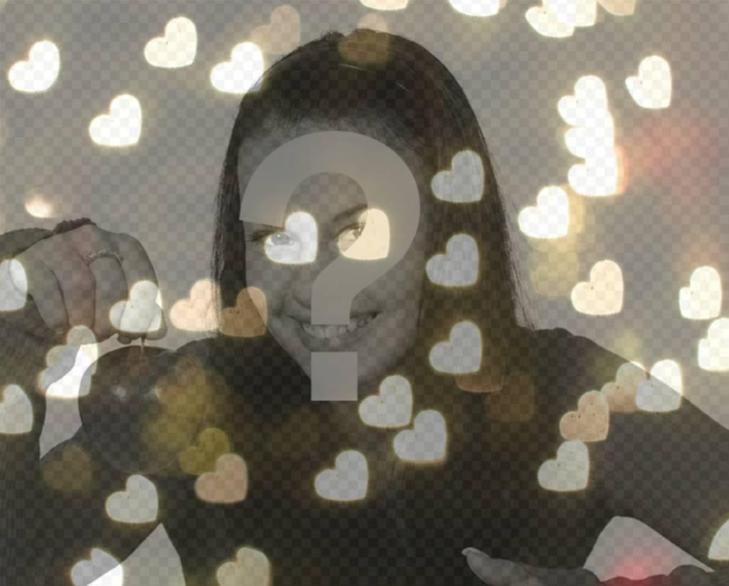 Filtrez lumières en forme de coeur pour vos photos
