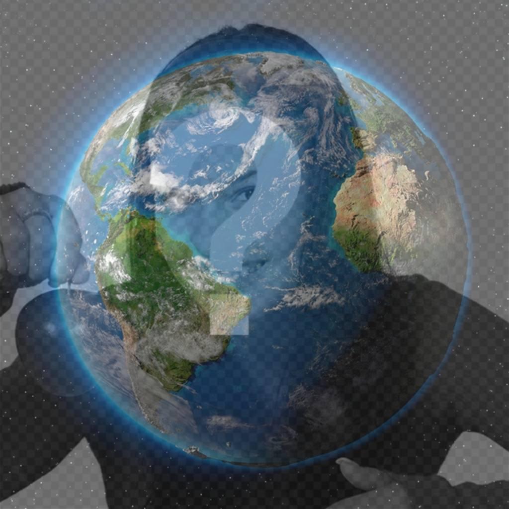 Effet photo de la Planète Terre à mettre sur votre photo de profil