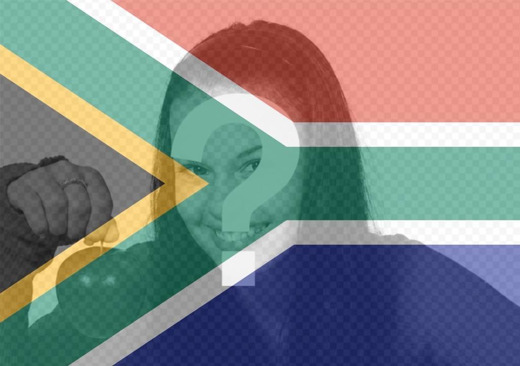 Effet photo du drapeau sud-africain pour votre photo