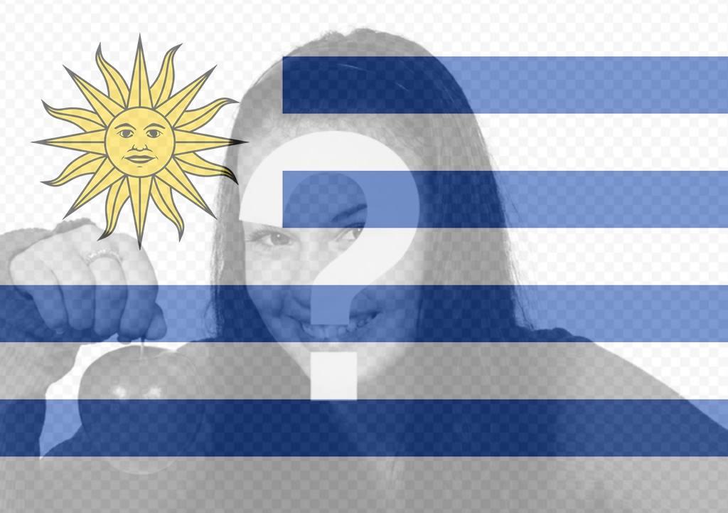 Effet photo à votre photo de drapeau de lUruguay filtre en ligne du drapeau de lUruguay pays à mettre sur votre photo de profil. Effet parfait pour votre photo de Facebook