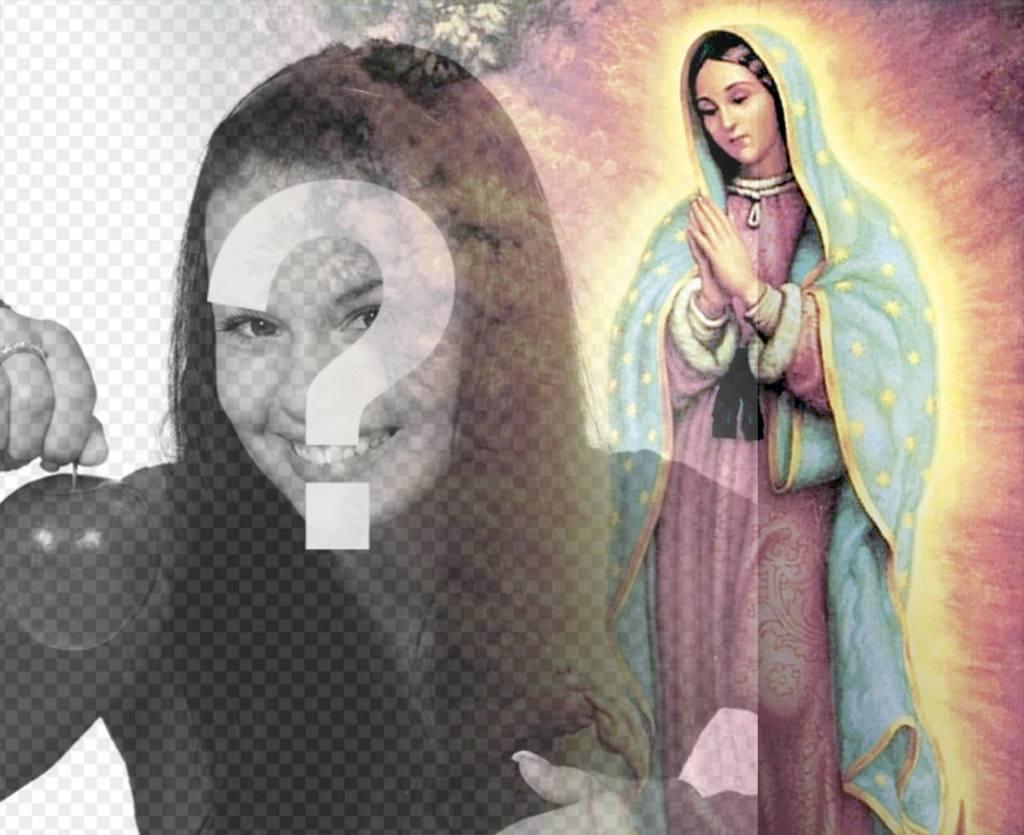 Effet photo pour télécharger votre photo avec la Vierge de Guadalupe