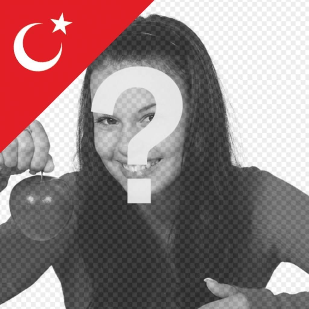 Le drapeau de la Turquie dans un coin de vos photos pour effet