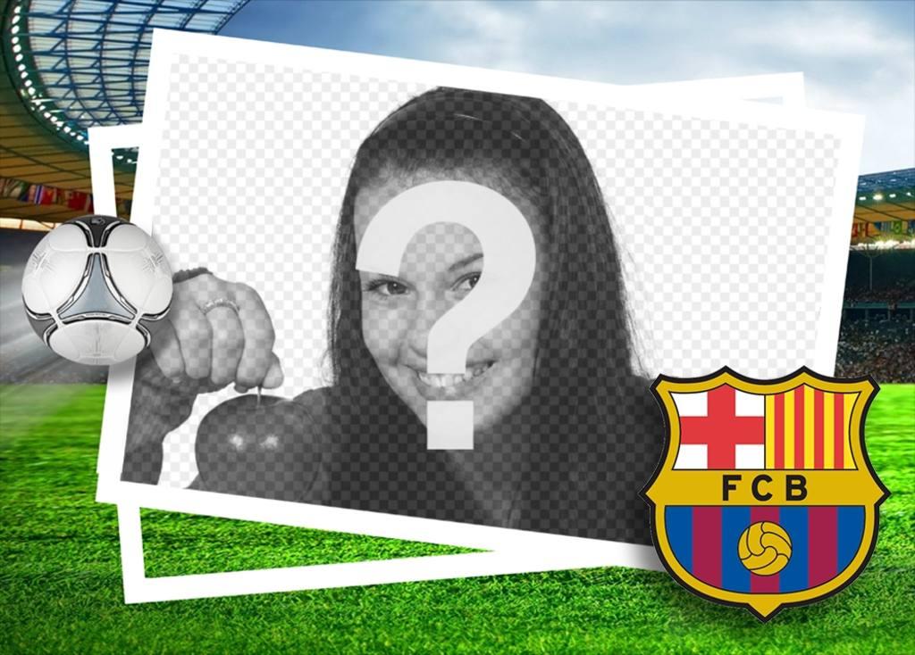 Effet photo du FC Barcelone pour télécharger une photo