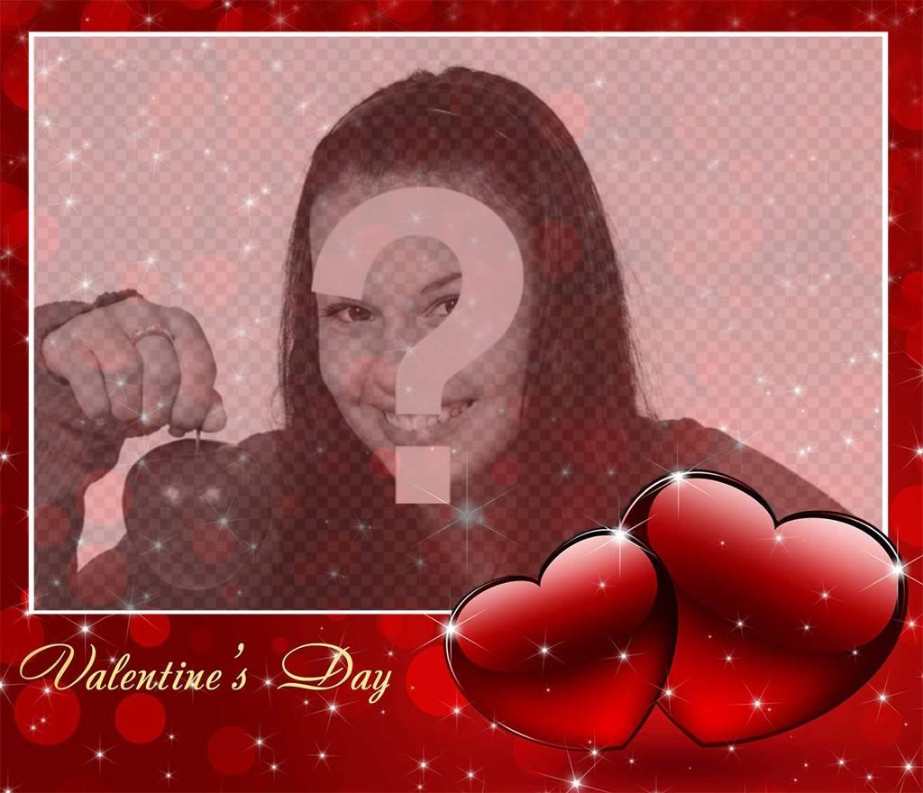 Photo effet à fêter la Saint Valentin avec une photo