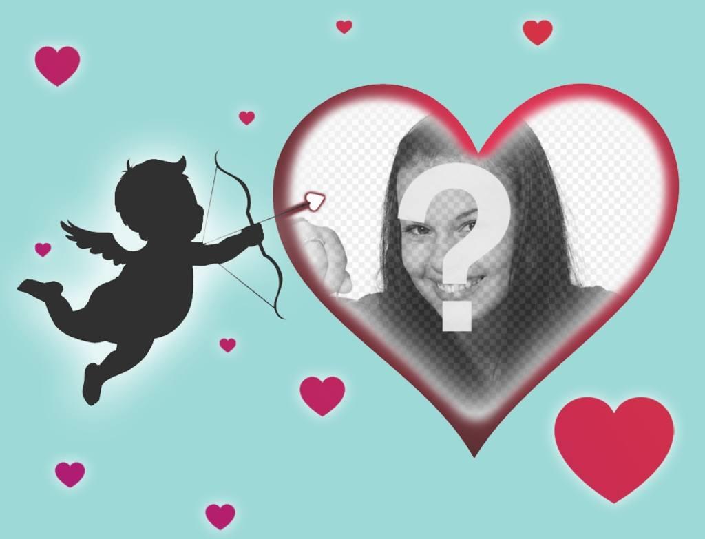 Carte spéciale pour célébrer Saint Valentin télécharger votre photo