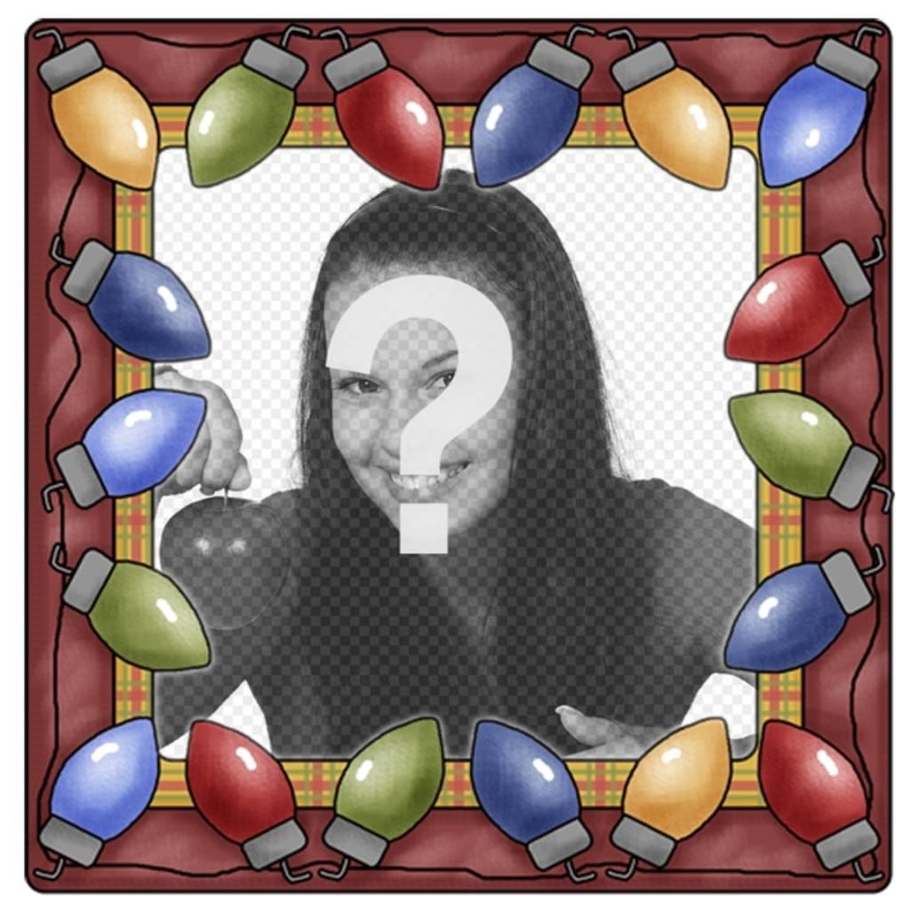 Couleurs de Noël lumière cadre photo où vous pouvez placer une photo à lintérieur