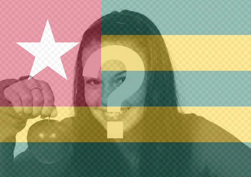 Modifier votre image de profil avec le drapeau de filtre du Togo de leffet photo libre de drapeau Togo ajouter à votre photo comme un filtre. Parfait pour vos photos de profil