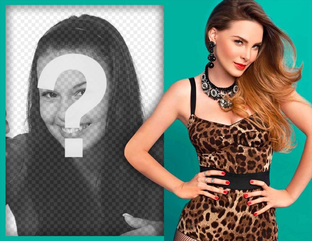 Effet photo pour les fans Belinda avec éditer avec une image