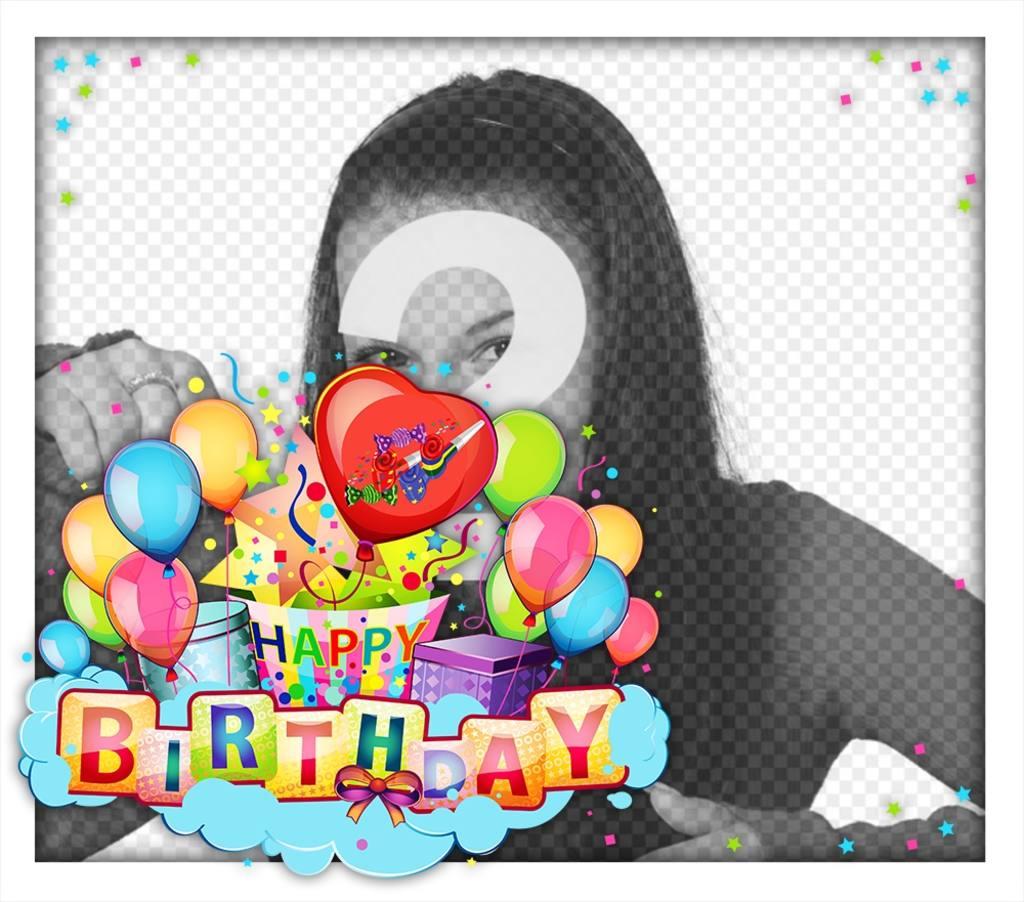 Carte colorée et joyeuse pour célébrer un heureux anniversaire