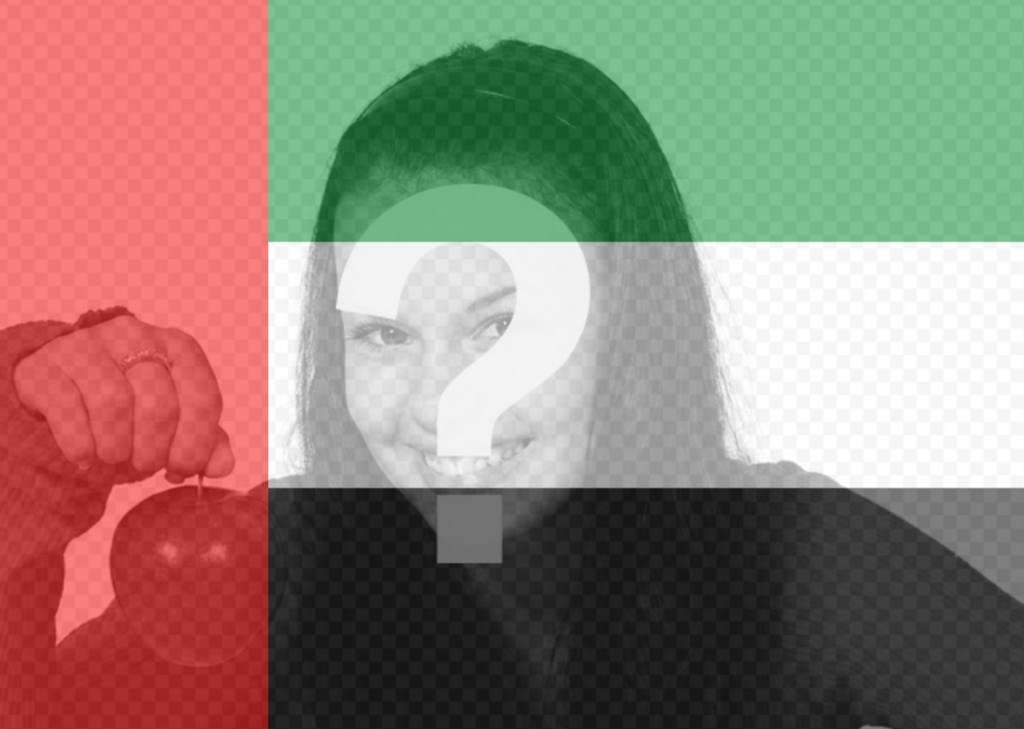 Effet de la Arabes Unis Drapeau sur vos images