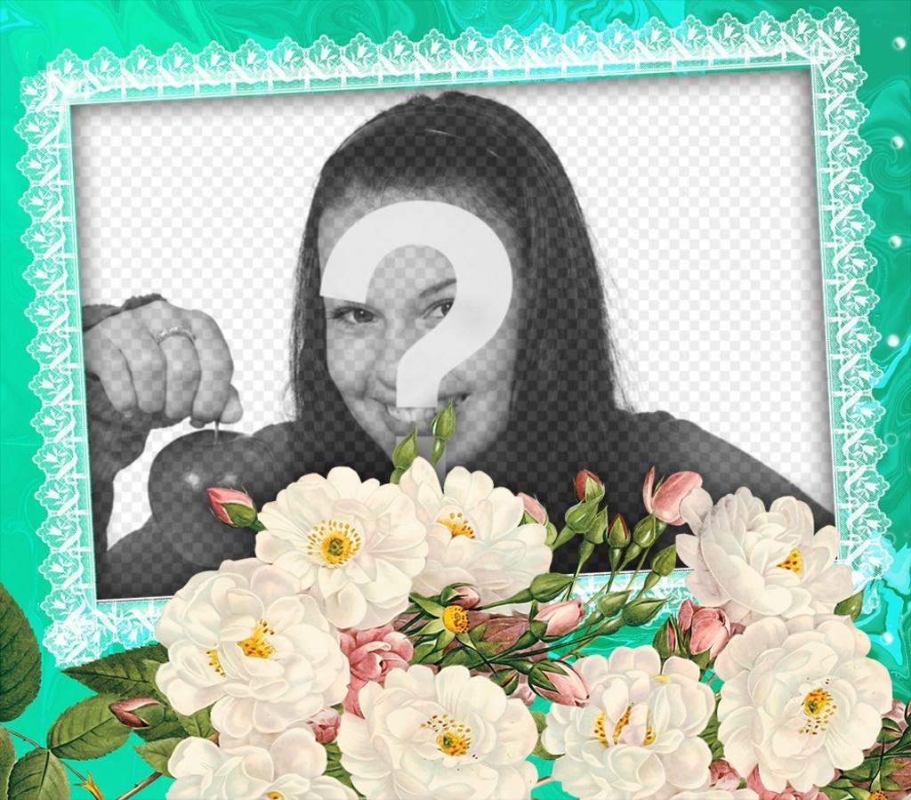 Fleurs blanches pour décorer vos photos préférées
