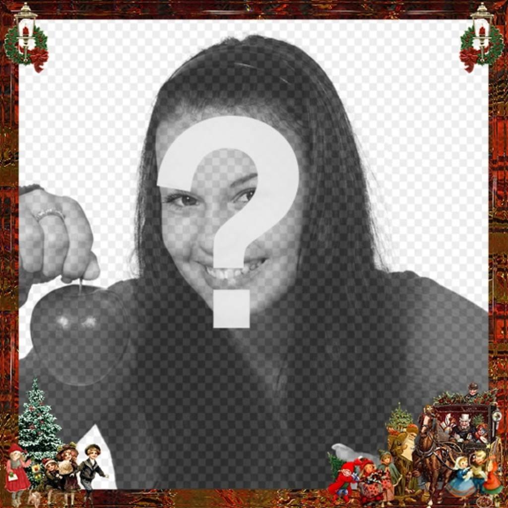 Noël victorien cadre photo, en particulier pour Noël à envoyer avec la photo que vous voulez dans le fond