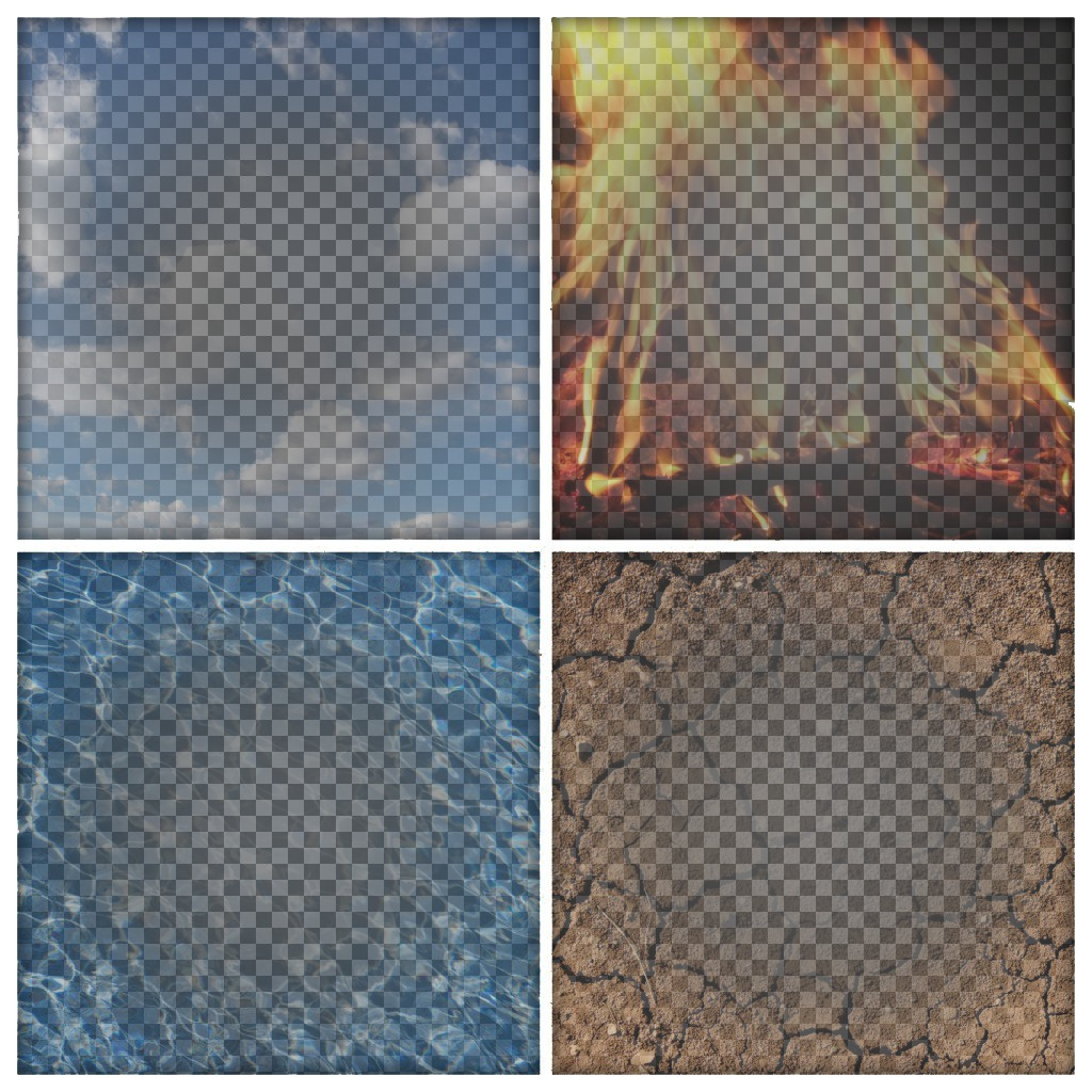 Les 4 éléments que les filtres à télécharger quatre photos